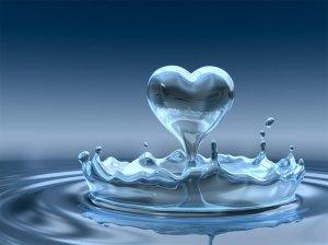 água coração